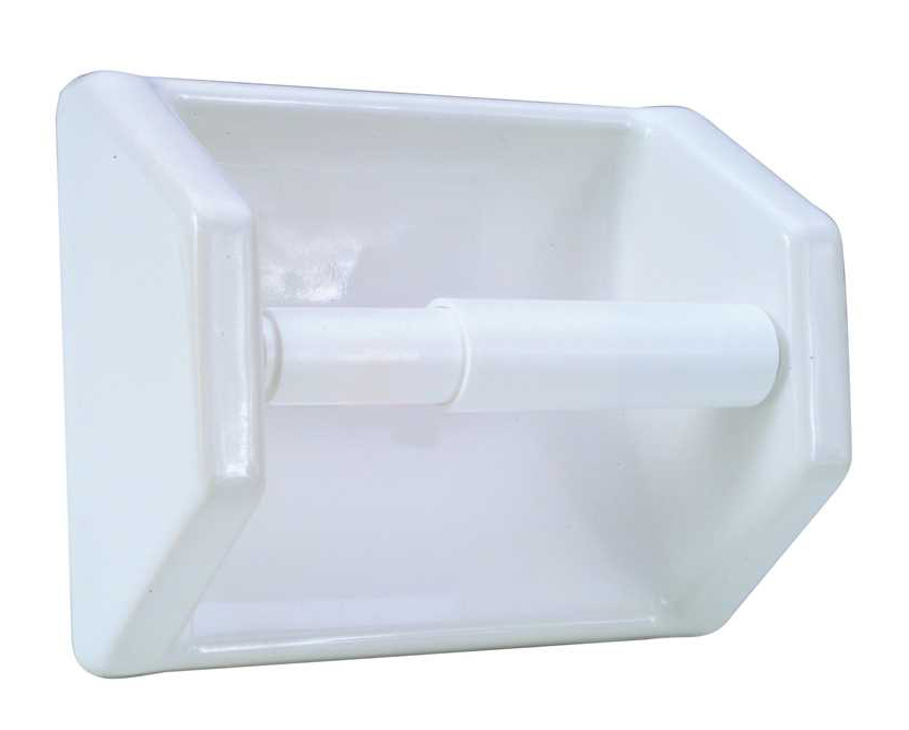 CERAMIC TOILET TISSUE HOLDER- SLIP ON CLIP