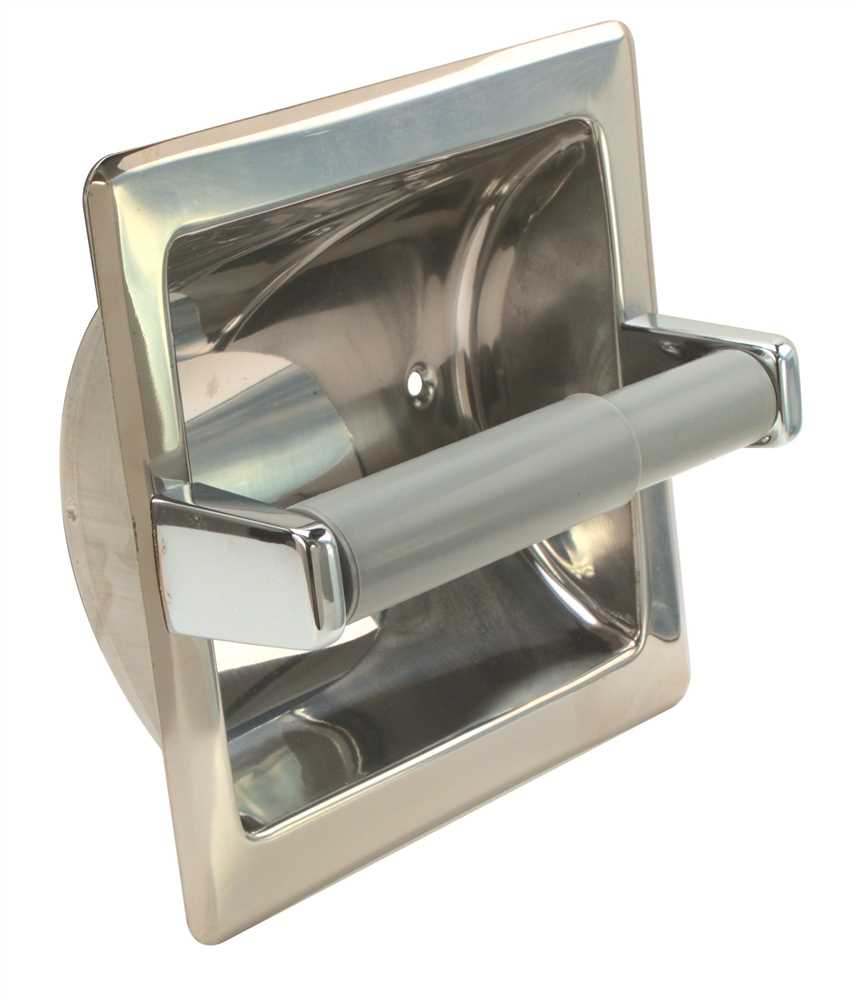 TOILET PAPER HOLDER RECESSED