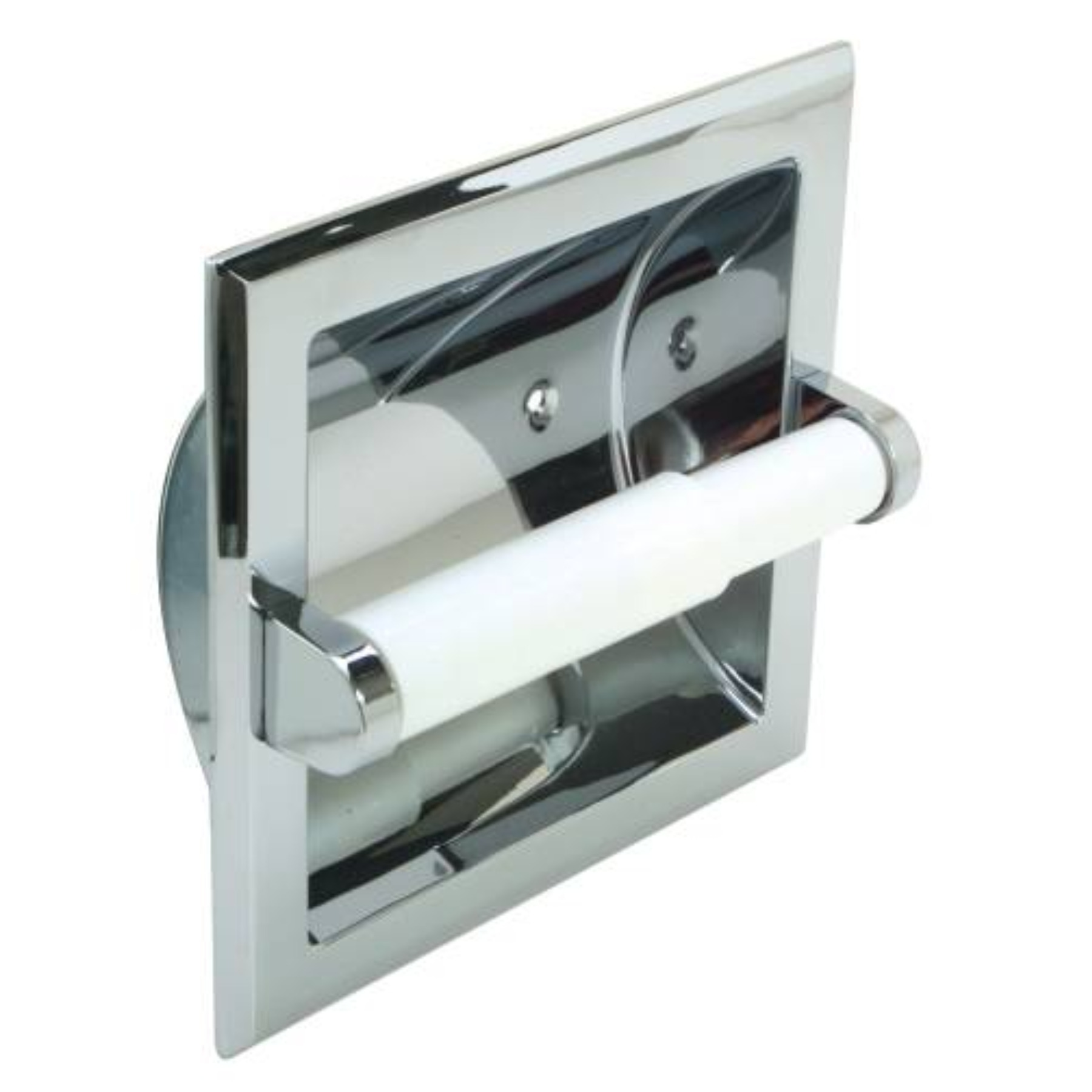 TOILET PAPER HOLDER AND ROLLER RECESSED