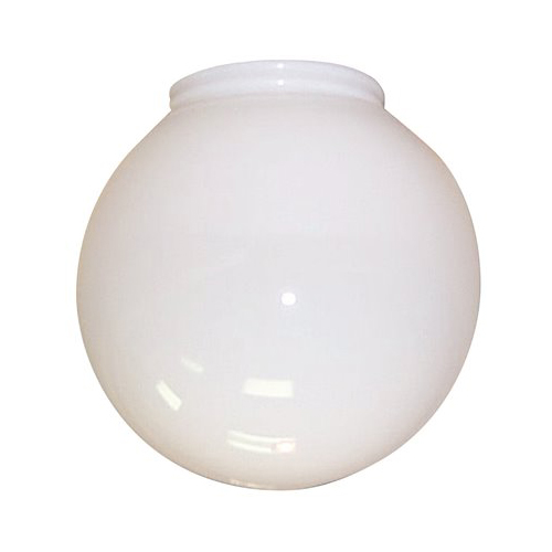 "BALL GLOBE WITH FITTER NECK 10"" WHITE PLASTIC"