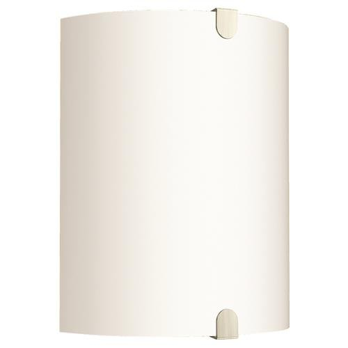 "7.5"" Decorative 2 Lights Wall Sconce Fixture, Incandescent Medium Base, Brushed Nickel"