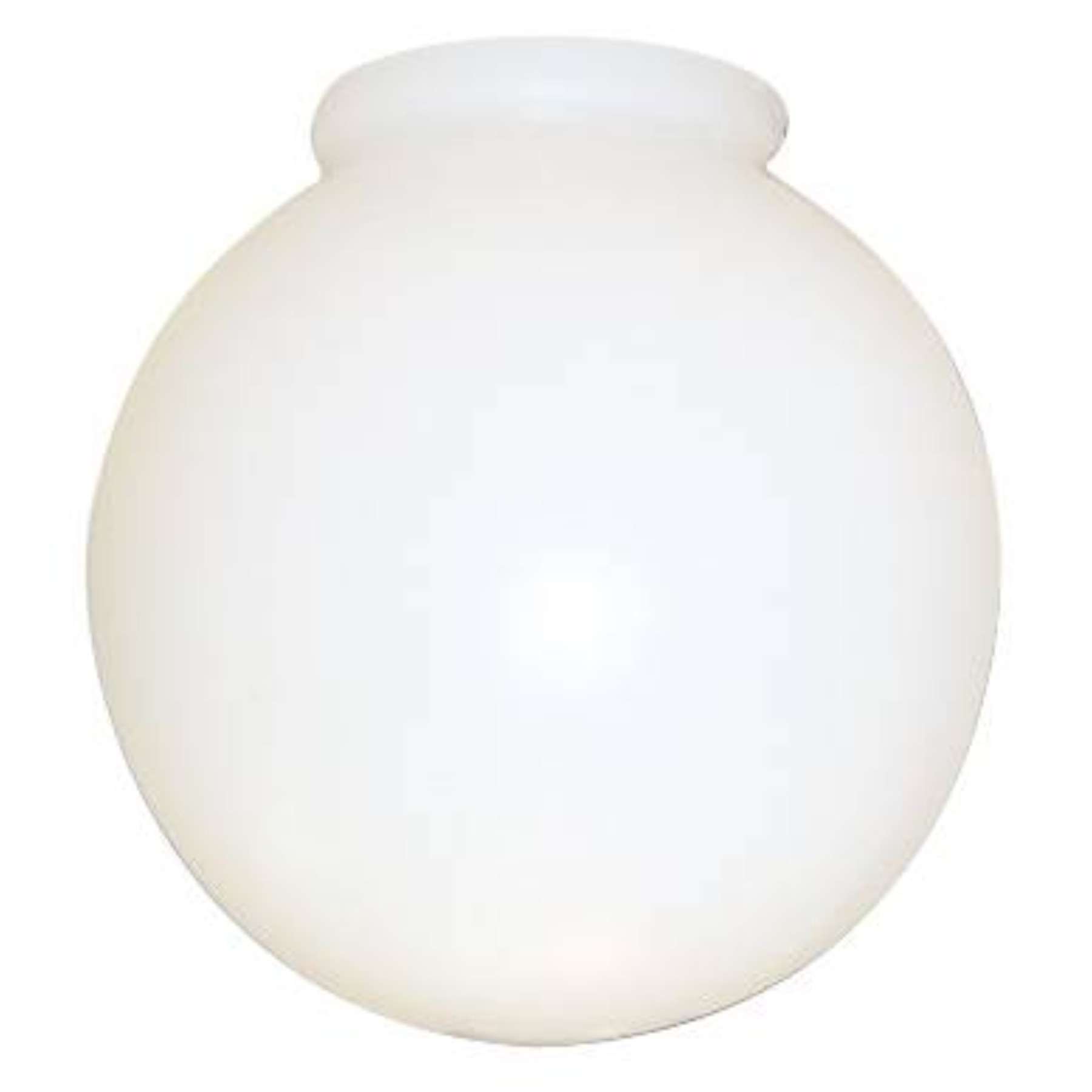 ACRYLIC GLOBE 6 IN. WHITE