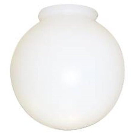 "ACRYLIC GLOBE WITH LIP 8"" WHITE"