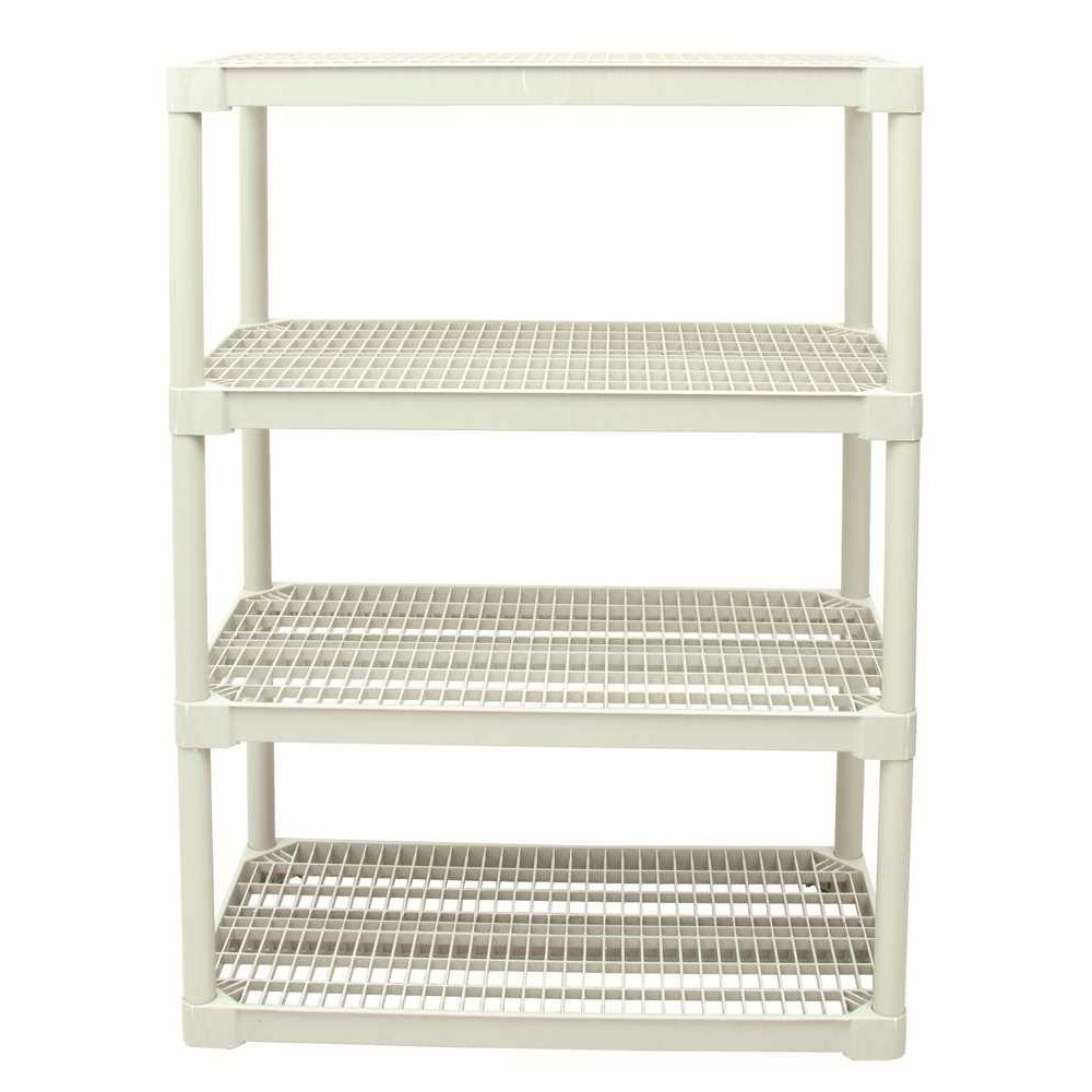 STORAGE SHELF, COMMERCIAL VENTILATED, 4 SHELF