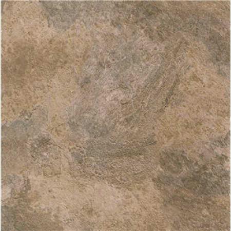 Winton Self-Adhesive Vinyl Floor Tile, 12X12 In., 1.1 mm, Natural Black And Tan Stone