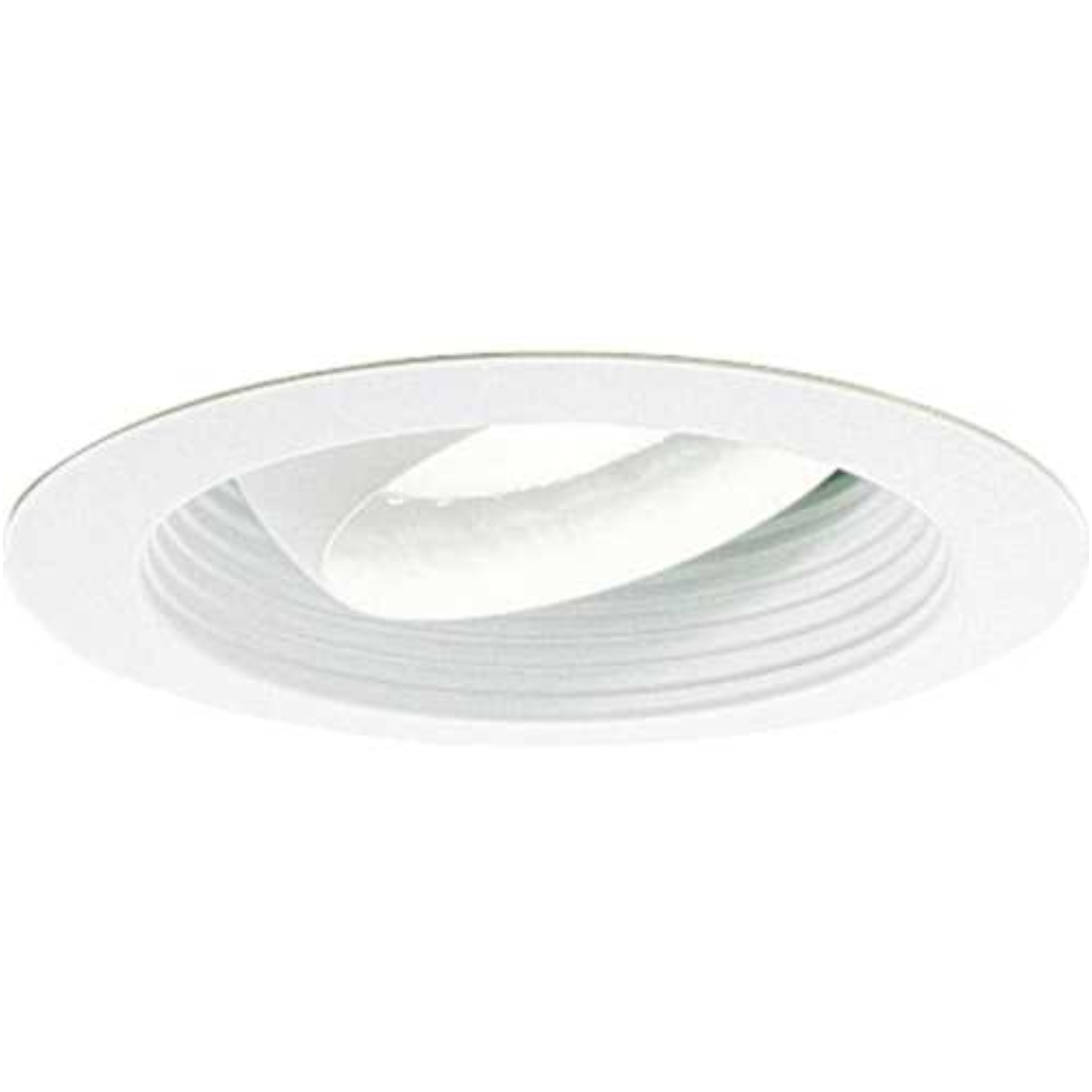 MONUMENT� 6 IN. RECESSED REGRESSED EYEBALL TRIM, WHITE WITH WHITE BAFFLE, 7-3/4 X 4 IN., BR30/PAR30