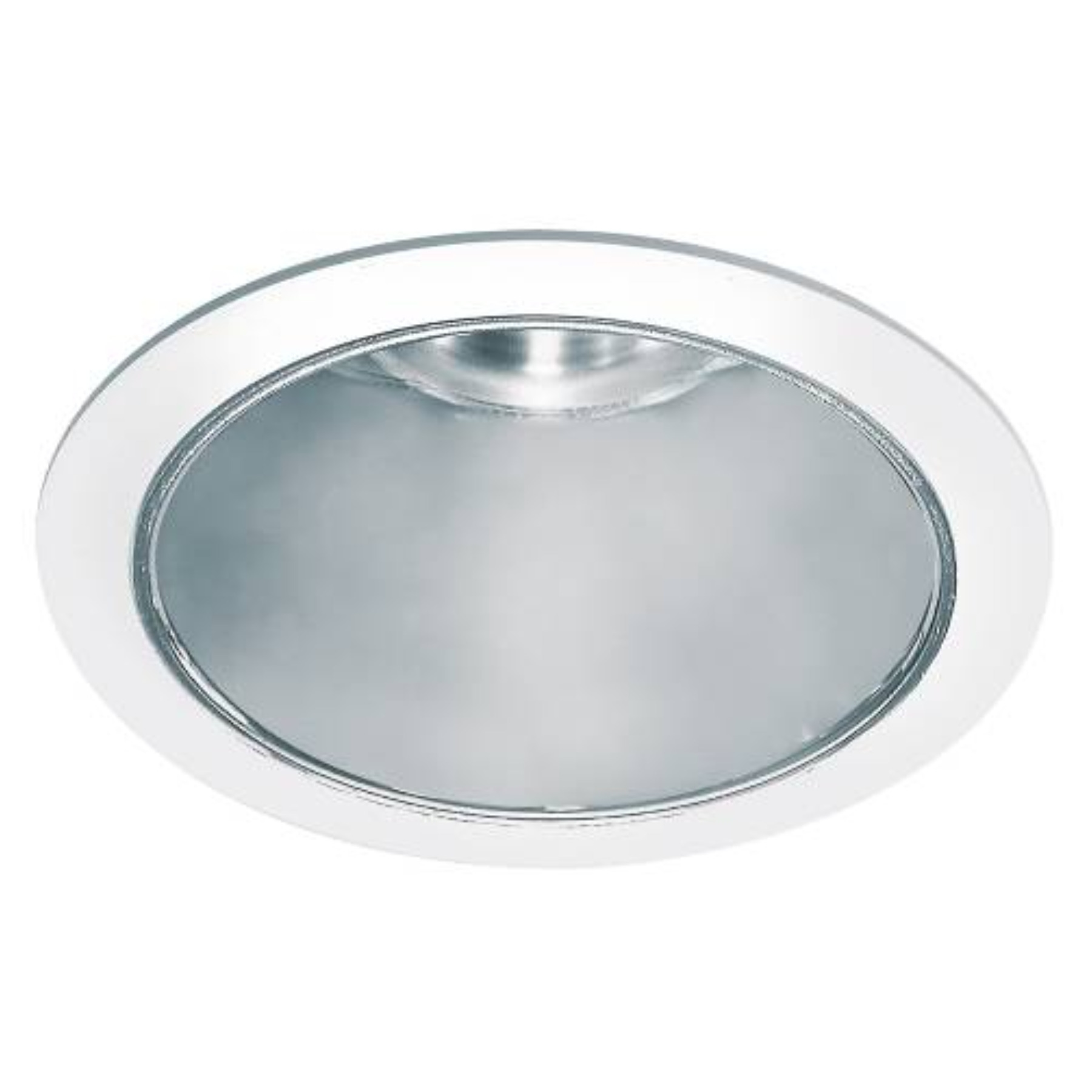 """Recessed Trim 8"""" Anodized Reflector Clear"""