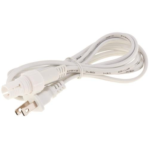 LIGHTING ROPE STYLE 6 FOOT POWER CORD WITH CONNECTOR WHITE