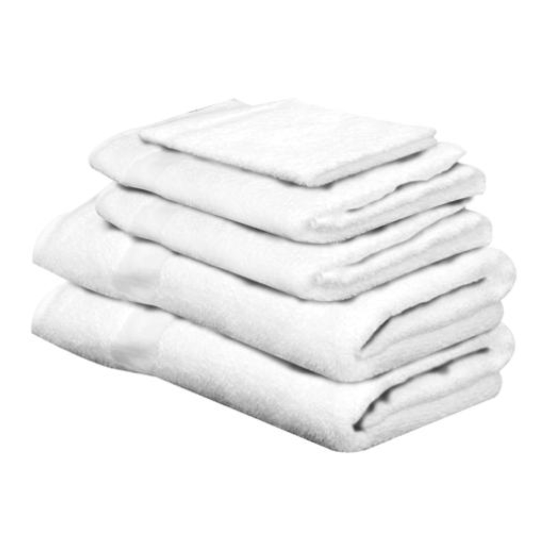 BATH TOWEL 25 IN X 50 IN WHITE, 12 PACK