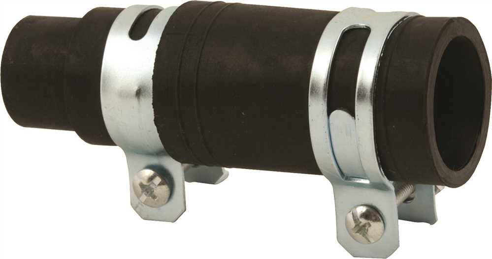 RUBBER GARBAGE DISPOSAL BOOT 2 CLAMPS
