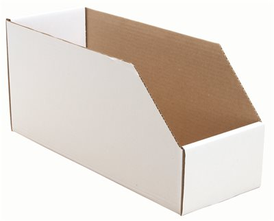 BIN BOXES CORRUGATED 6 IN. W X 18 IN. D X 8 IN. H