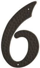 HOUSE NUMBER 6 BLACK PLASTIC 3 IN.