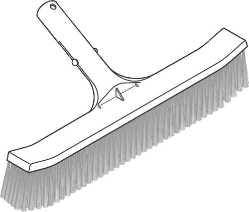POOL WALL BRUSH DELUXE 18""