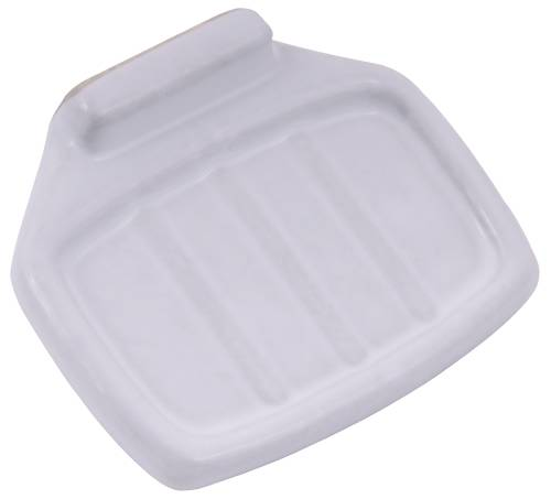 CLIP ON CERAMIC SOAP HOLDER WHITE