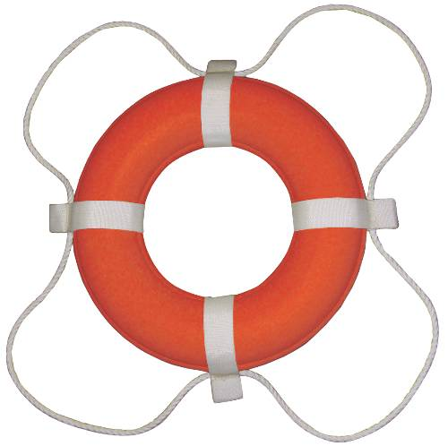 LIFE RING 20 IN. DIAMETER, COAST GUARD APPROVED