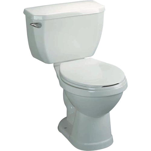 ELONGATED TOILET IN A BOX, WHITE