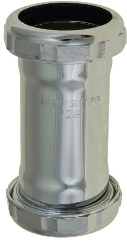 COUPLING 1-1/2 IN. CHROME PLATED SLIP JOINT