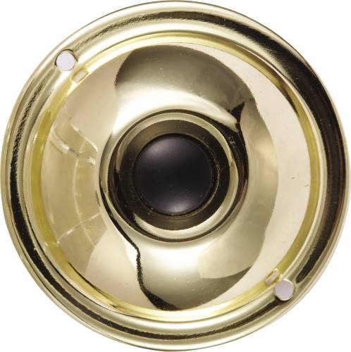 PUSH BUTTON BRASS ROUND 2-1/4 IN.