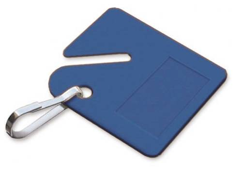 LUCKY LINE� PLASTIC CABINET KEY TAG, BLUE, 20 TAGS PER PACK
