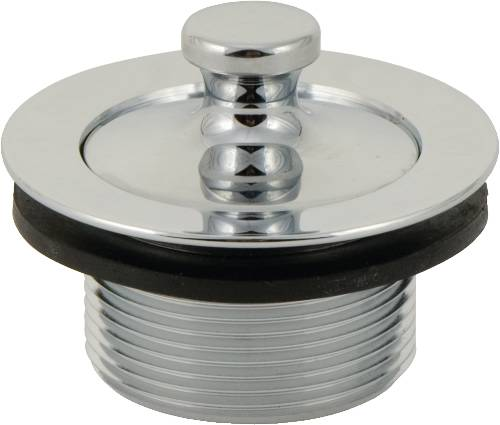 "LIFT-AND-TURN TUB STOPPER ASSEMBLY FOR GERBER�, 1-7/8"", 11.5 TPI, POLISHED CHROME"