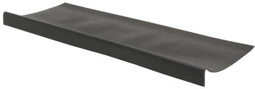 STAIR TREAD, DEEP, BULL NOSE, BLACK, 9-7/8X24 IN.