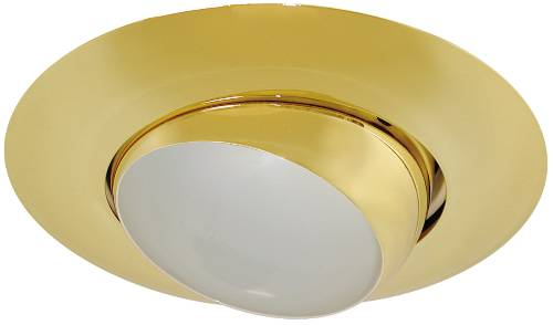 MONUMENT� 6 IN. RECESSED EYEBALL TRIM, POLISHED BRASS, 8 X 4 IN., BR30/PAR30