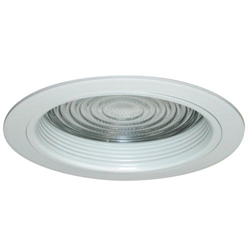 MONUMENT� 6 IN. RECESSED ANODIZED REFLECTOR TRIM WITH VERTICAL SOCKET, CLEAR, 7-3/8 X 6-1/4 IN.