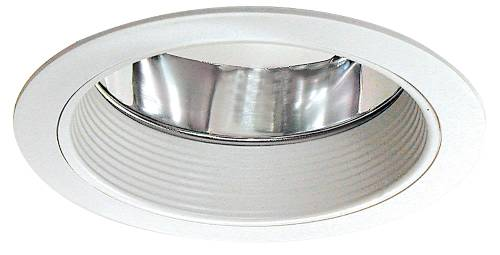 MONUMENT� 6 IN. RECESSED BAFFLE TRIM WITH ALZAK, WHITE, 7-3/8 X 6-1/2 IN.