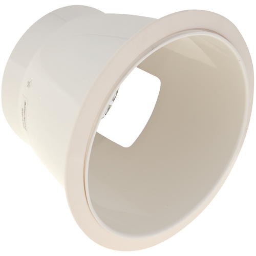 """Recessed Trim 8"""" Anodized Reflector White H"""