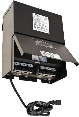 TRANSFORMER LOW VOLTAGE CONVERTS 120 VAC 60HZ TO 12 VOLT, DUAL CIRCUIT