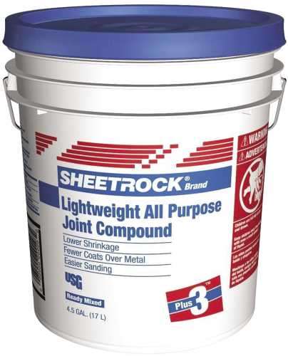 SHEETROCK� PLUS 3 LIGHTWEIGHT ALL PURPOSE WALLBOARD JOINT COMPOUND, READY-MIXED, 4.5 GALLON