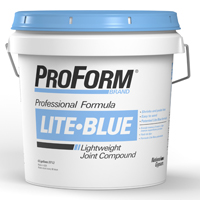 ProForm Lite-Blue JT0083 Lightweight Professional GRADE Ready-Mix Joint Compound, 4.5 gal, Pail, White to Gray