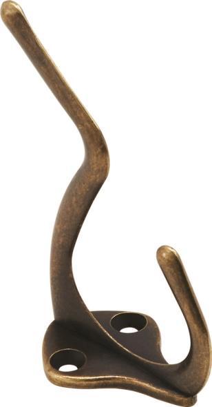 HOOK COAT/HAT ANTIQUE BRASS