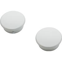 CAP END WHITE