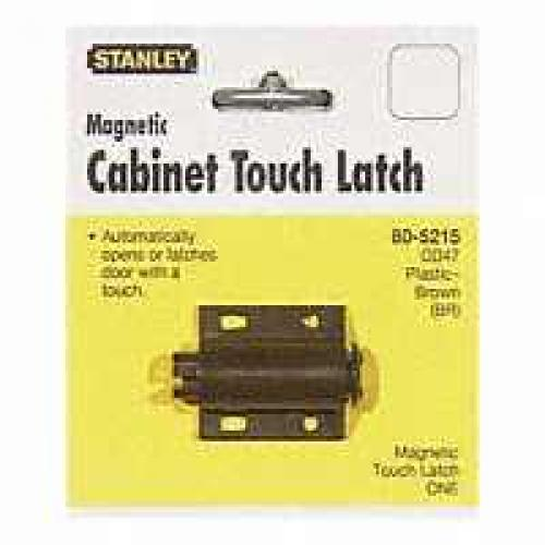 LATCH MAGNETIC STL/PLST BROWN