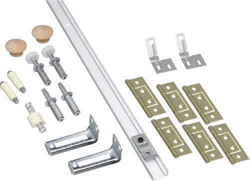 391D 48 In. White Fold Door Hardware Set