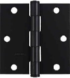 V512 3-1/2 IN. BLACK DOOR HINGE