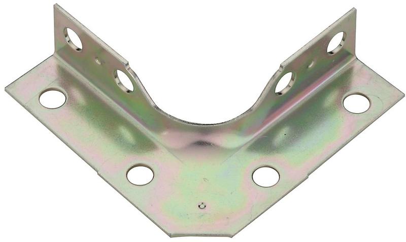 V114 2-1/2X5/8 Zinc Corner Brace