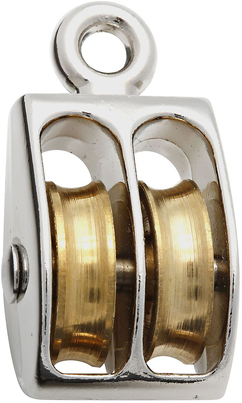 3204BC 1 IN. NICKEL FIXED DOUBLE PULLEY
