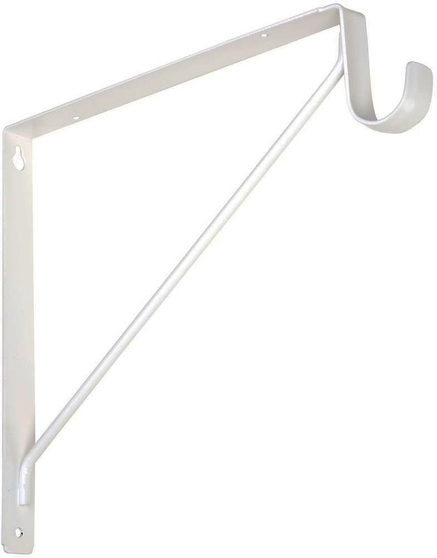 108BC WHT SHELF & ROD BRACKET