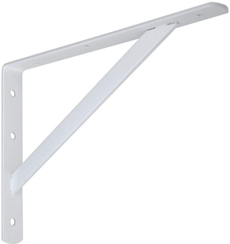 111BC 12 IN. WHITE SHELF BRACKET