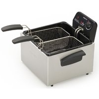 ProFry 05466/05464 Deep Fryer, 12 Cup, 1800 W, 2 Basket, Stainless Steel