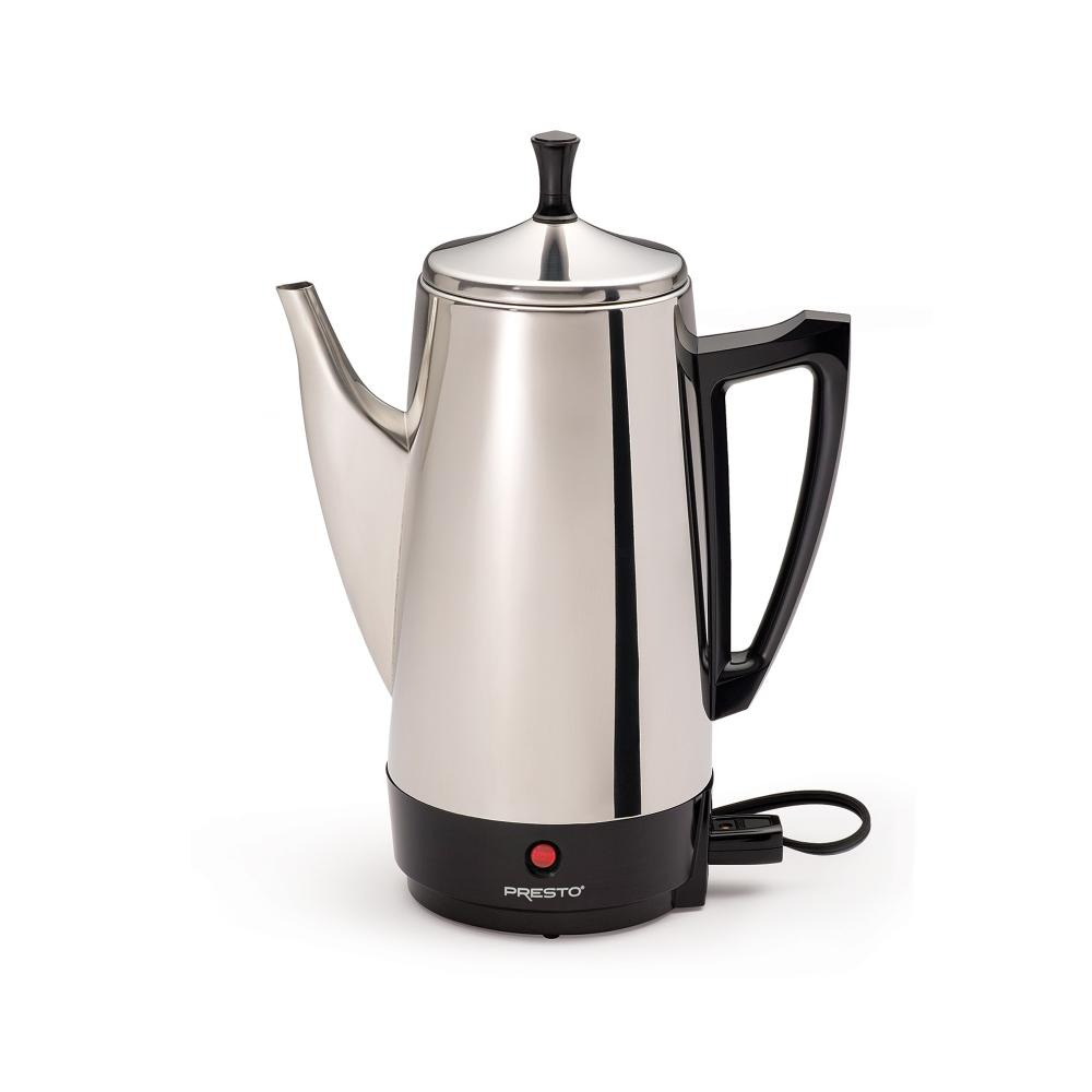 COFFEE MAKER SS CHROME 12 CUP