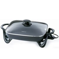 Presto 06852 High Sidewall Electric Skillet With Glass cover, 1500 W 22-1/4 in W x 12-1/4 in L x 8-1/4 in H