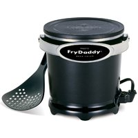 National Presto FryDaddy Electric Deep Fryer, 4 Cup, 1200 W, 8.13 in W x 8.38 in D x 7.38 in H