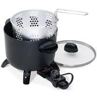 National Presto 06006 Electric Non-Stick Multi-Cooker/Steamer, 6 qt, 10.44 in H x 10-1/4 in W x 8.31 in L, Aluminum