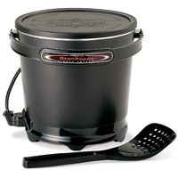 National Presto GranPappy Electric Deep Fryer, 6 Cup, 1500 W, 9.7 in W x 9.7 in D x 8.3 in H