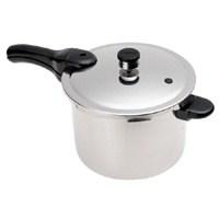 National Presto 1264 Pressure Cooker, 6 qt, 9.12 in H x 10-1/2 in W x 10-1/2 in L, Aluminum
