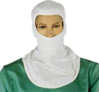 National Safety Apparel+ One Size Fits All White 6 Ounce Nomex+ Flame Resistant Hood With A Single Layered Knit Bib