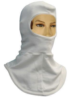 National Safety Apparel� One Size Fits All White 6 Ounce Modacrylic� Nomex� Flame Resistant Hood
